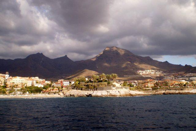pohled na ostrov Tenerife