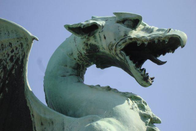 Drak je znakem hlavního města Slovinska, Lublaně