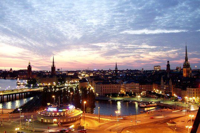 Pohled na Stockholm, hlavní město Švédska