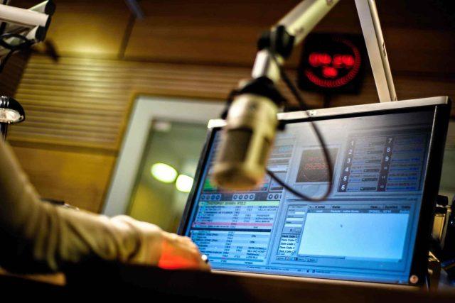 studio Český rozhlas Dvojka, mikrofon