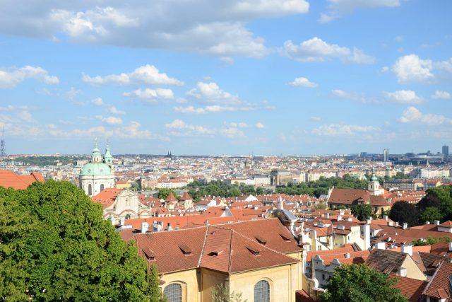 Pohled na Prahu z Hradčanského náměstí