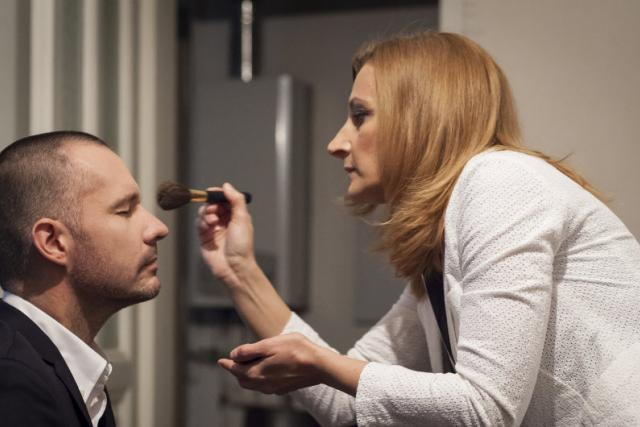 Martin Veselovský a maskérka Daniela Drtinová