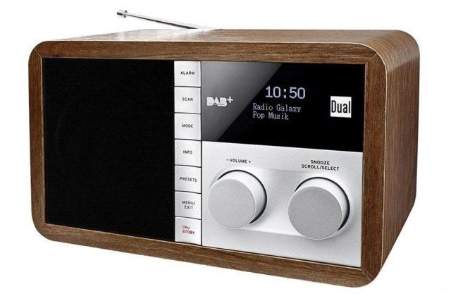 DAB+ rádio Dual 73127, dřevo