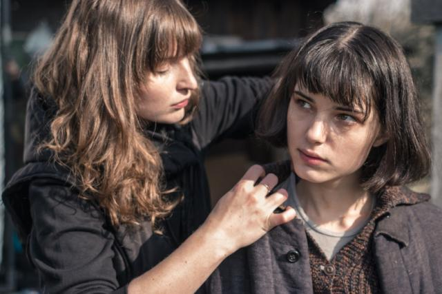 Snímek z natáčení filmu Já, Olga Hepnarová