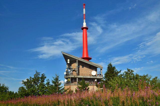 Vysílač na vrcholu Lysé hory
