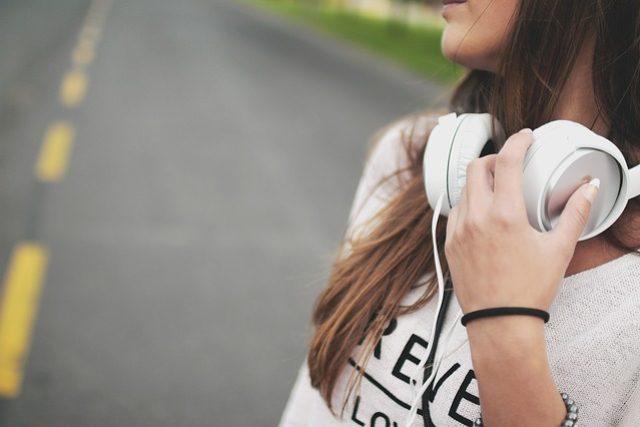 Sluchátka, hudba