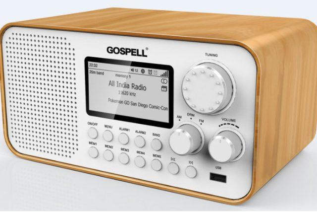 Digitální rozhlasový přijímač GR-216 pro DRM, FM a AM