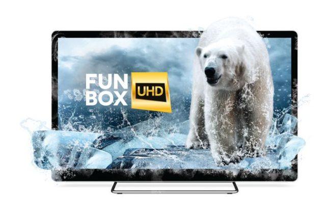 Logo kanálu FunBox 4K - verze prosinec 2016
