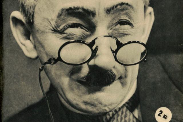 Vlasta Burian na obálce Radiojournalu v roce 1935