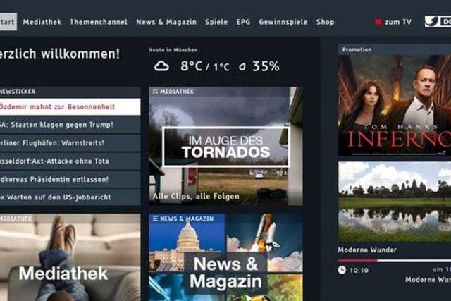 Ukázka z hybridního portálu kanálu Kabel Eins Doku