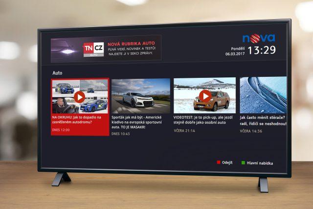 Auto magazín v nabídce hybridního vysílání Novy.