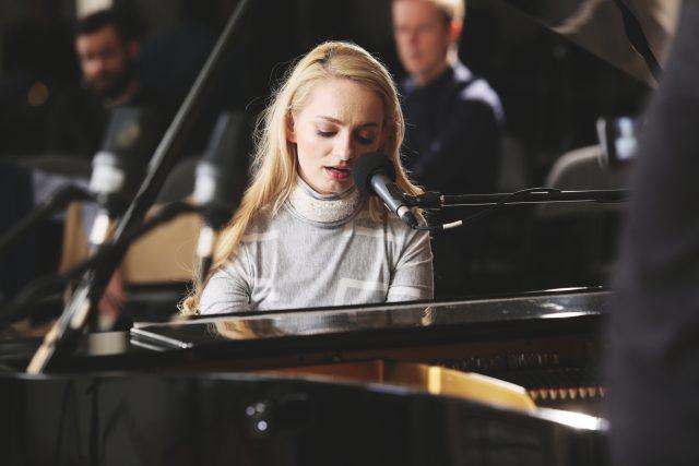 Katarína Máliková na Audioportu ve vile Tugendhat