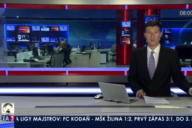 Z vysílání zpravodajské televize TA3