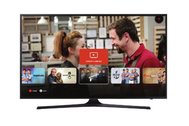 HbbTV menu televize Prima