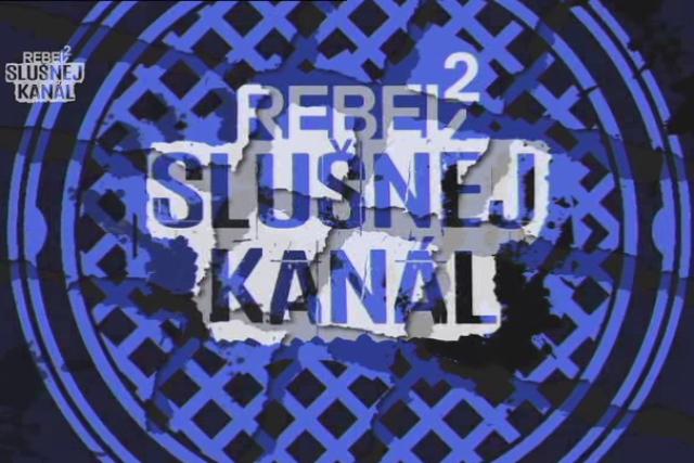 Grafika rockové televize Rebel 2 Slušnej kanál