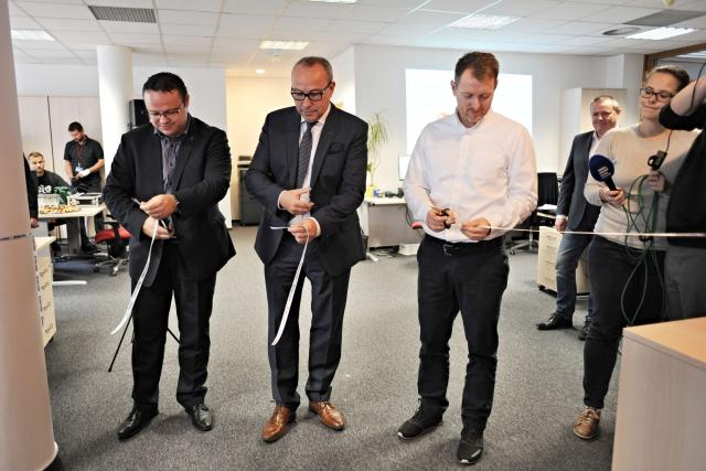 Slavnostního otevření newsroomu se zúčastnil i generální ředitel René Zavoral