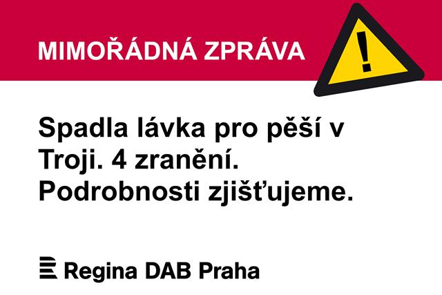 Mimořádná událost ve slideshow Regina DAB Praha