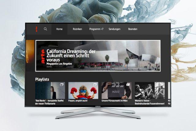 Nová podoba portálu stanice Arte pro televizory s HbbTV.