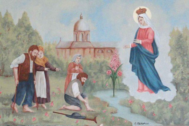 Antônio Cremonese: nástěnná malba se scénou zázračného uzdravení od Panny Marie