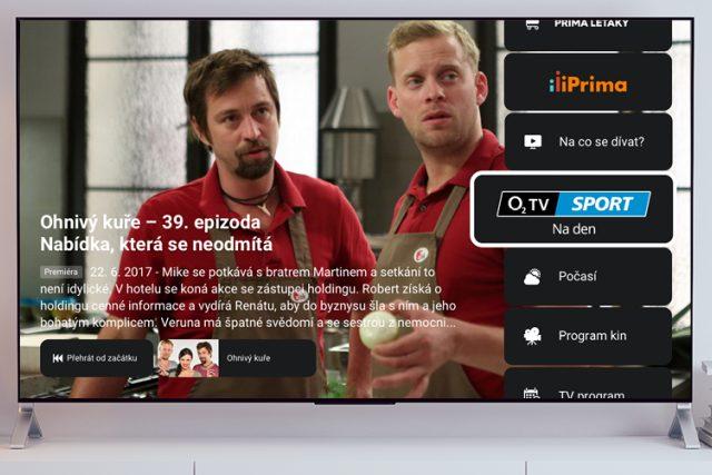 O2TV Sport v hybridním vysílání FTV Prima