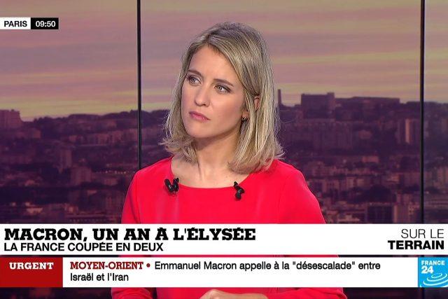 Z vysílání zpravodajské televize France 24.