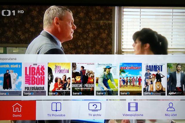 Ukázka aplikace Skylink Live TV pro televizory Samsung.