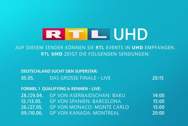 Promo obrazovka stanice RTL UHD