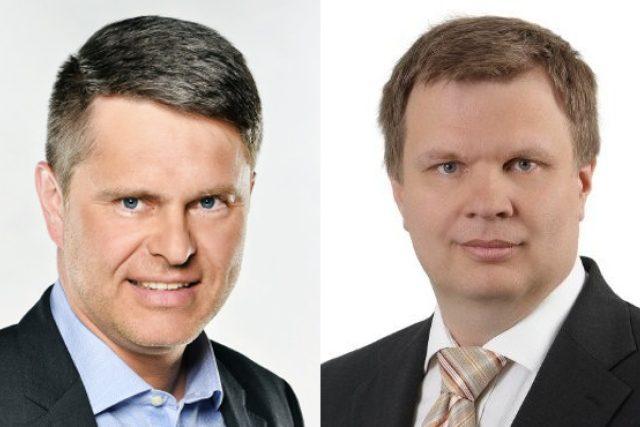 Generální ředitel FTV Prima Marek Singer a technický šéf Novy Josef Uher.