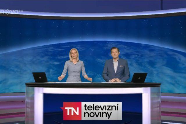 Televizní noviny z prostředí virtuálního studia