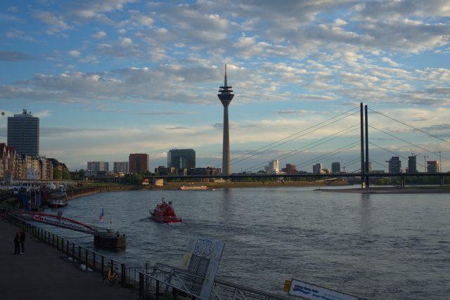 Dusseldorf, hlavní město spolkové země Severní Porýní-Vestfálsko