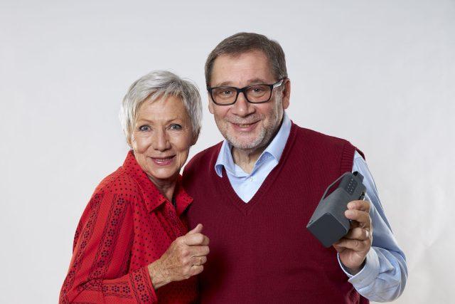 Herci Dana Syslová a Tomáš Töpfer,  tváře digitální stanice ČRo Pohoda | foto: Marie  Votavová