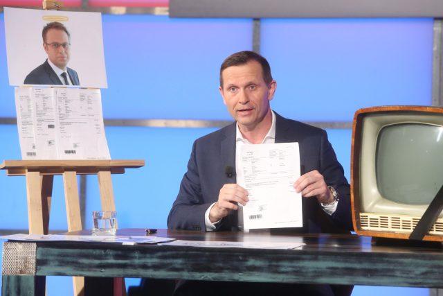 Jaromír Soukup ve vysílání svého pořadu Kauzy.