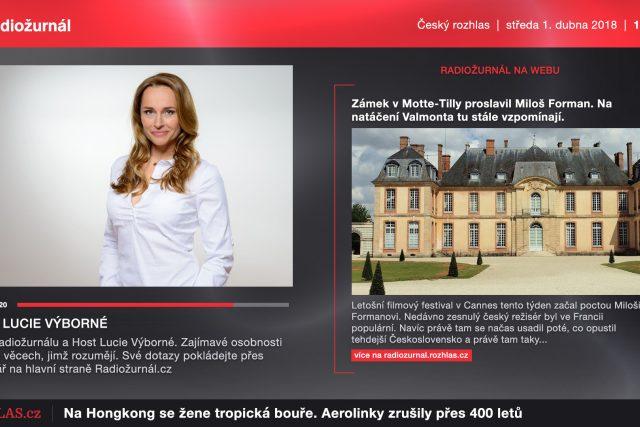 Vizuální rádio na modelu Českého rozhlasu Radiožurnálu.