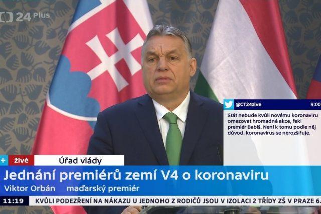 Ukázka z vysílání stanice ČT24 Plus