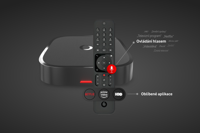 Prémiový set-top box pro Vodafone TV