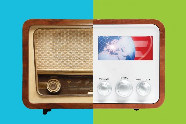 Kampaň ukazuje rozdíl mezi starým a novým rozhlasovým přijímačem s DAB+