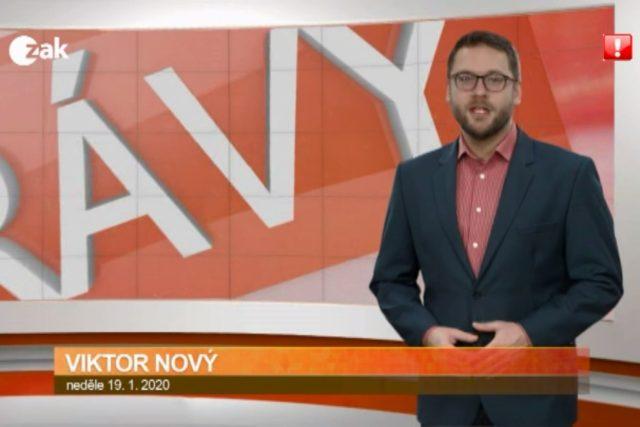 Varovný piktogram ve vysílání ZAK TV