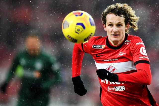 Fotbalový záložník Alex Král působí v ruském klubu Spartak Moskva