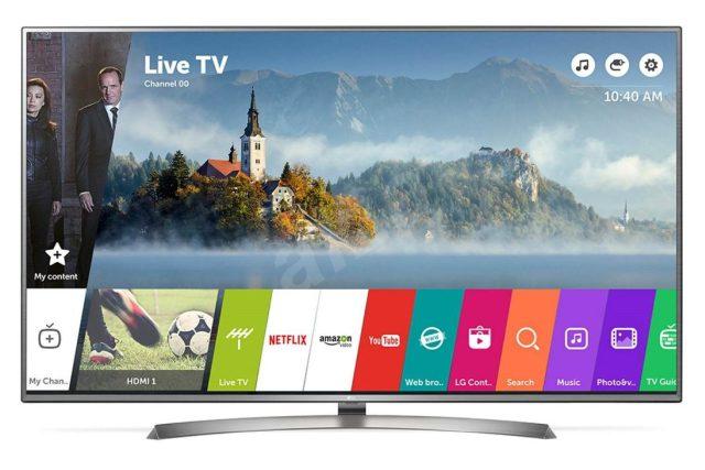 Chytrý televizor značky LG - Smart TV