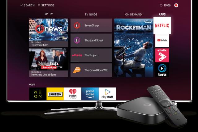 Prostředí služby Vodafone TV a její set-top box (ilustrační foto)