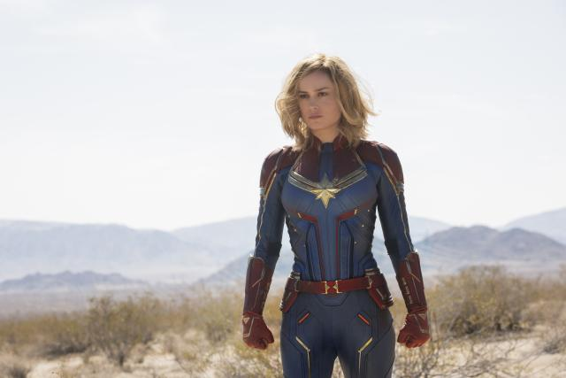 Brie Larsonová ve filmu Captain Marvel