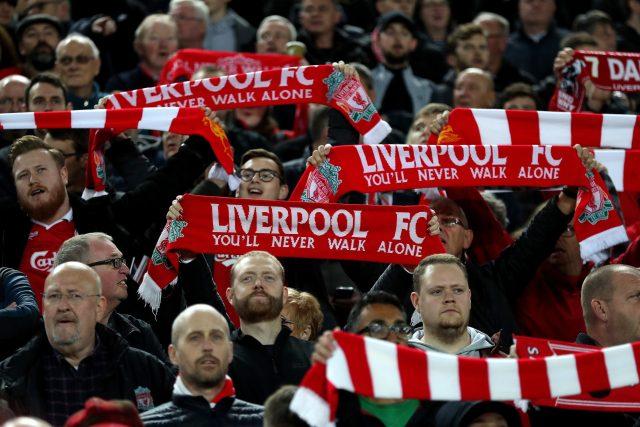 Fanoušci anglického Liverpoolu